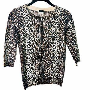 🇺🇸 J. Crew Merino Animal Print Tippi Sweater